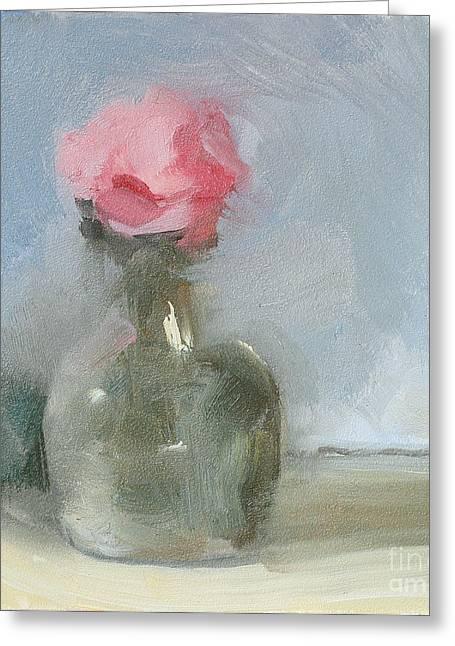 Small Vase Greeting Card by Jayne Morgan