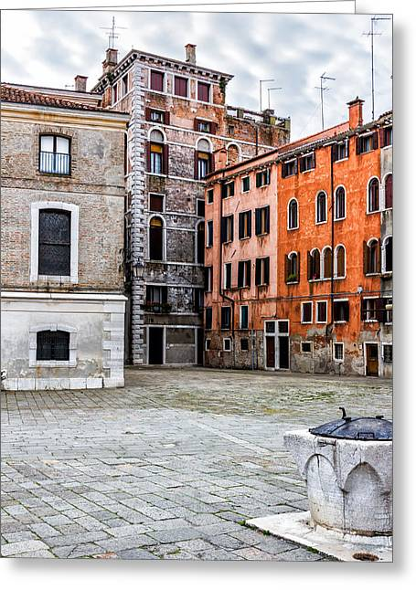 Small Venetian Square Greeting Card