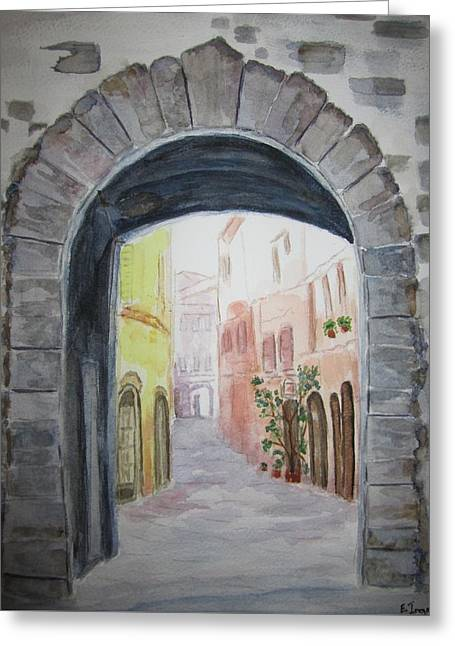 Small Village In Italy Greeting Card