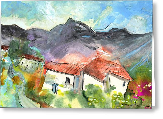 Small Village In The South Of France Greeting Card by Miki De Goodaboom
