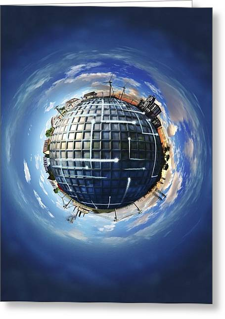 Smart Energy Grids Greeting Card by Nicolle R. Fuller