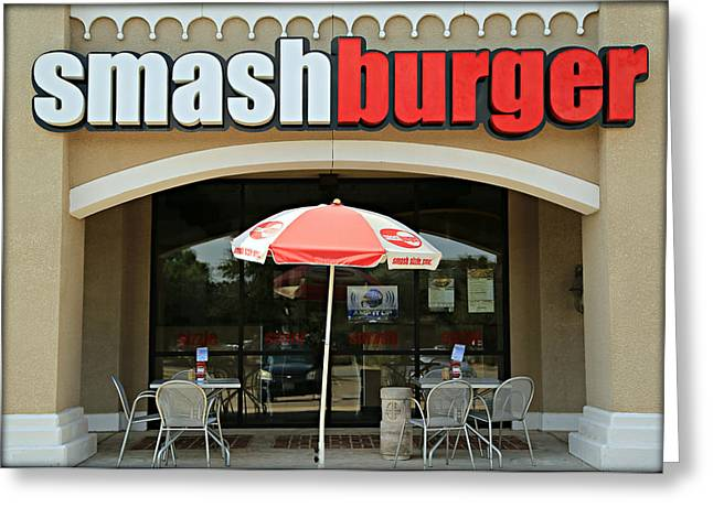 Smashing Good Burger Greeting Card by Stephen Stookey