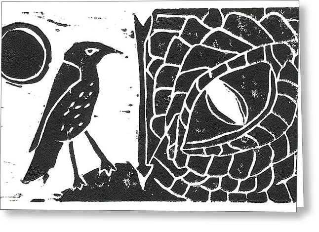 Smaug And The Thrush Greeting Card
