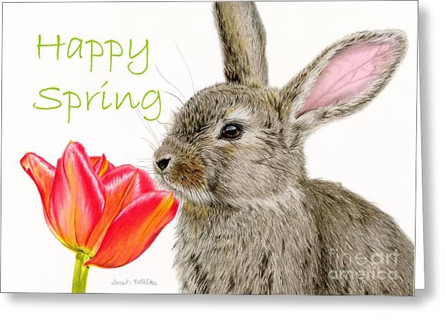 Smells Like Spring- Happy Spring Cards Greeting Card by Sarah Batalka