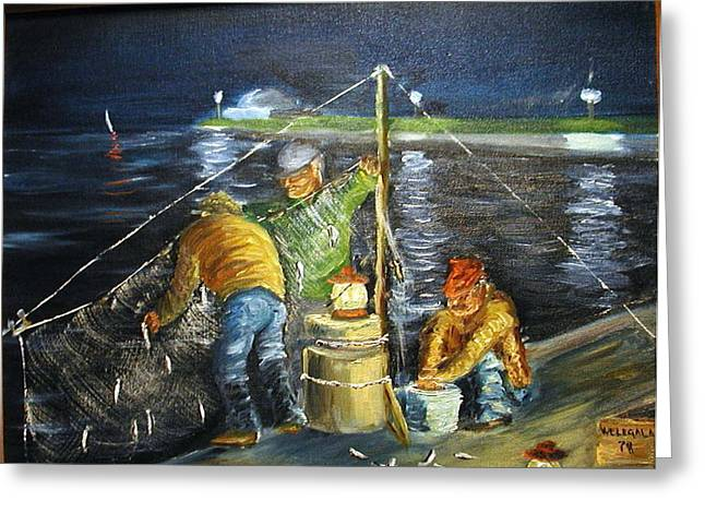 Smelt Fishing Greeting Card by Lawrence Welegala