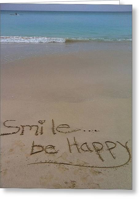 Smile Be Happy Greeting Card