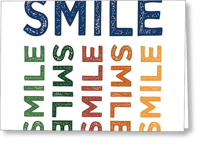 Smile Cute Colorful Greeting Card by Flo Karp