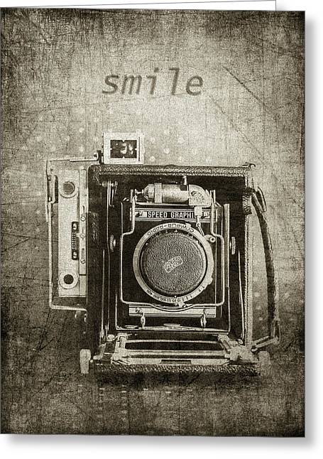 Smile For The Camera - Sepia Greeting Card