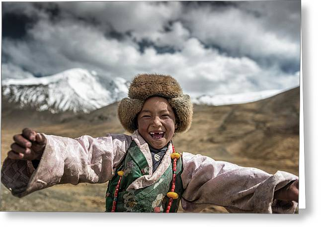 Smile {tibet} Greeting Card