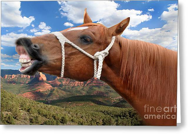 Smile When You Say That Greeting Card by Gary Keesler