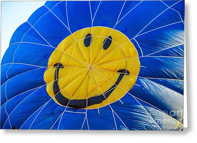 Smiley Balloon Greeting Card by Robert Bales