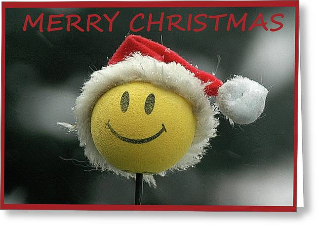 Greeting Card featuring the photograph Smiley Christmas by Geraldine Alexander