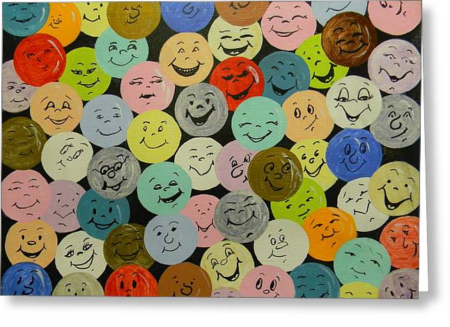 Smilies Greeting Card