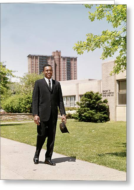Smiling African American Business Man Greeting Card