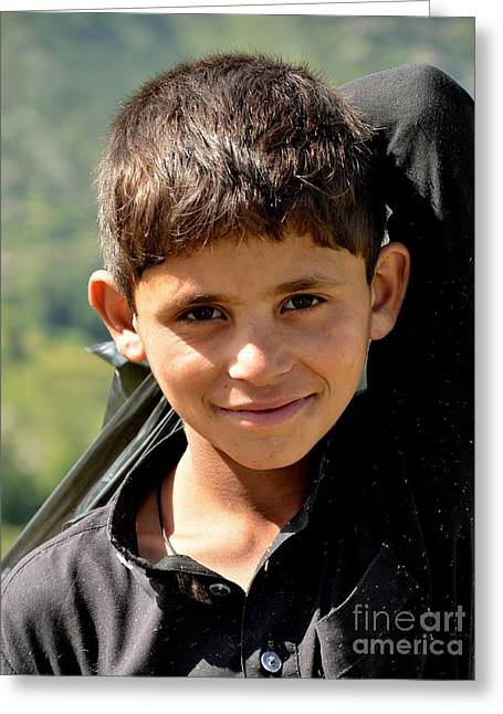 Smiling Boy In The Swat Valley - Pakistan Greeting Card