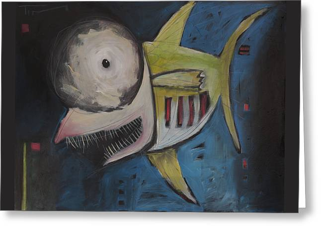 Smiling Fish Greeting Card by Tim Nyberg