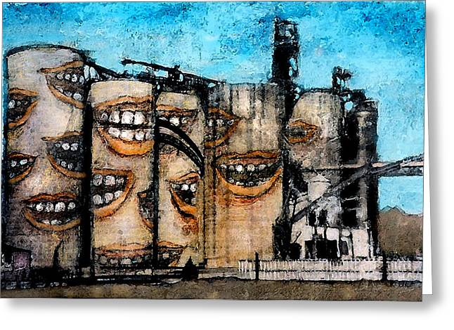Smiling Silos Greeting Card by James Huntley