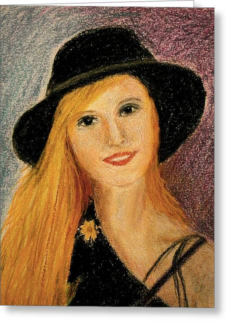 Smiling Young Lady  Greeting Card
