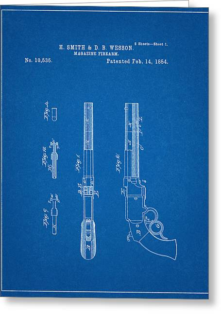 Smith And Wesson Patent Greeting Card