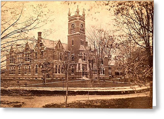 Vintage Smith College  Greeting Card by Georgia Fowler