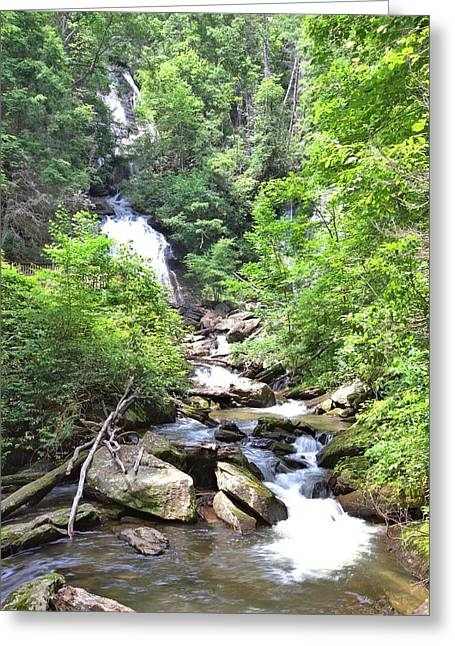 Smith Creek Downstream Of Anna Ruby Falls - 3 Greeting Card by Gordon Elwell