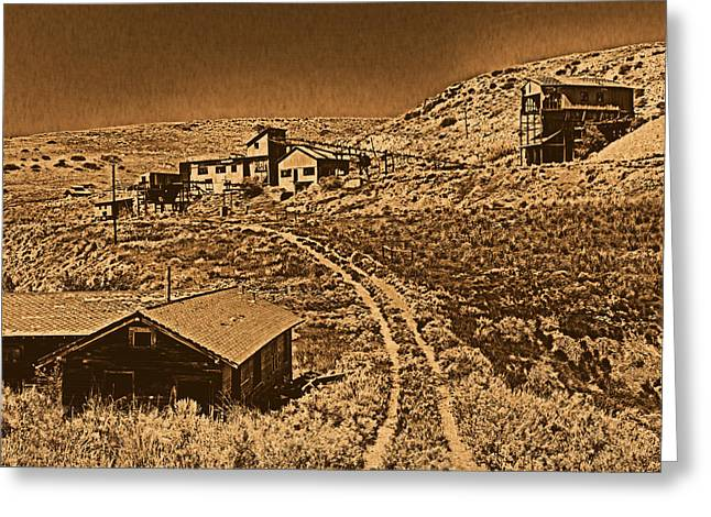 Smith Mine Greeting Card by Leland D Howard