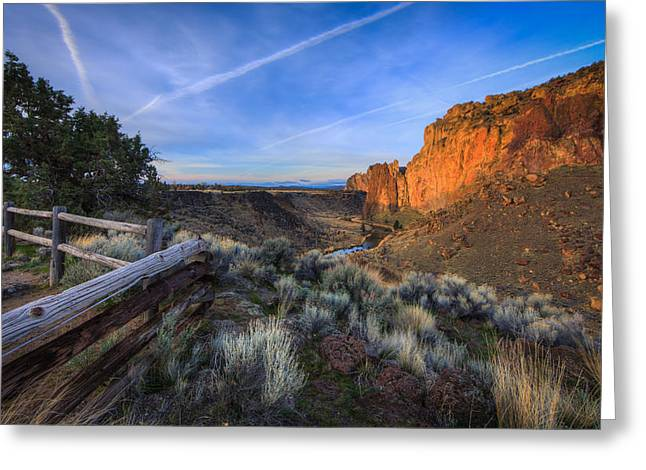 Smith Rock At Sunrise Greeting Card by Everet Regal