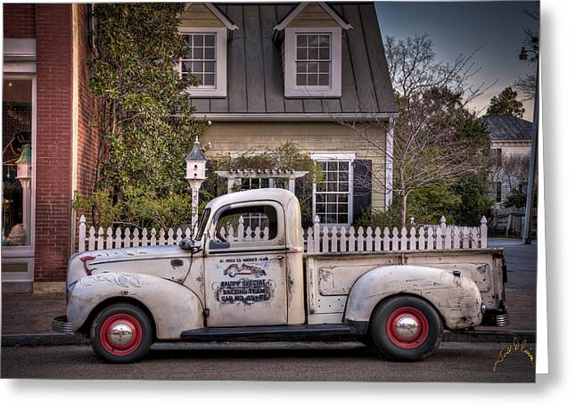 Smithfield Truck Greeting Card by Williams-Cairns Photography LLC