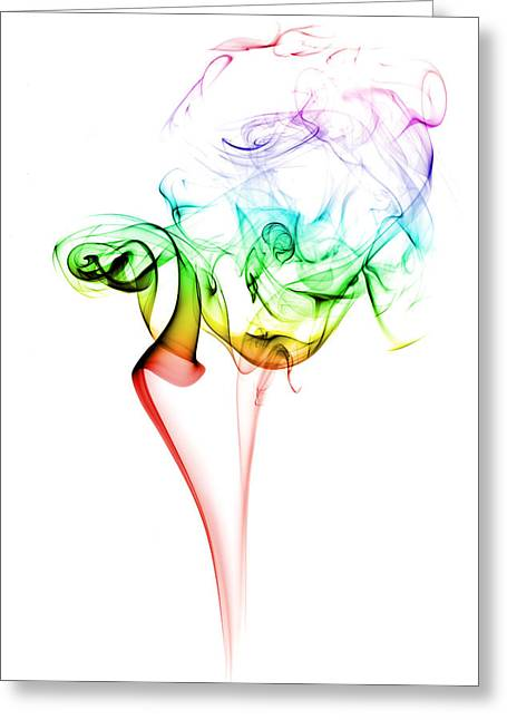Smoke And Colours Greeting Card by Samuel Whitton