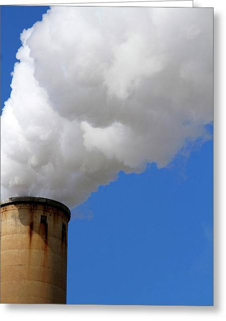 Smoke And Steam Emission At The Teco Greeting Card