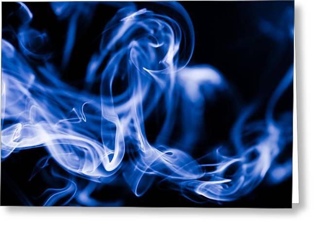 Smoke Close Up Greeting Card