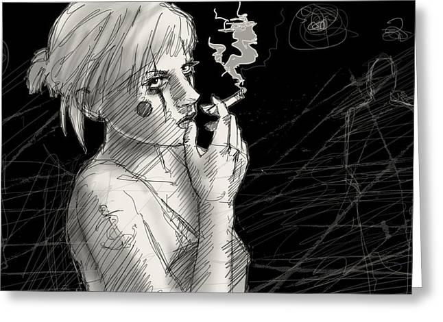 Smoke Greeting Card by H James Hoff
