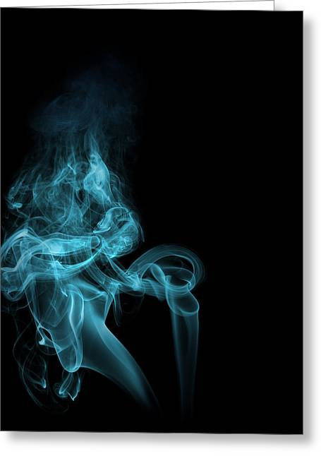 Greeting Card featuring the photograph Smoke In Blue by Cecil Fuselier