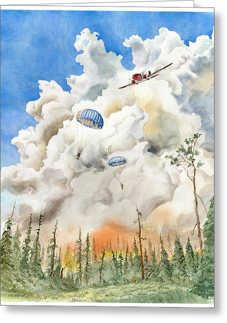 Smoke Jumpers Greeting Card