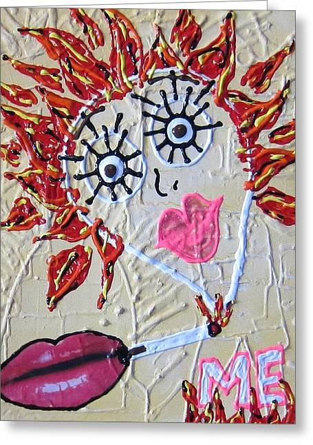 Greeting Card featuring the painting Smoke Me Now by Lisa Piper
