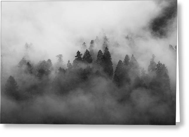 Smoke On The Mountain Greeting Card by Aaron Bedell