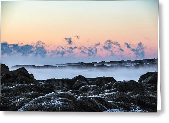 Smoke On The Water Greeting Card by Robert Clifford