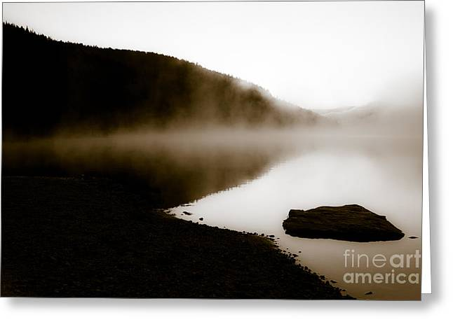 Greeting Card featuring the photograph Smoke On Turquoise Lake Colorado by Jo Ann Tomaselli