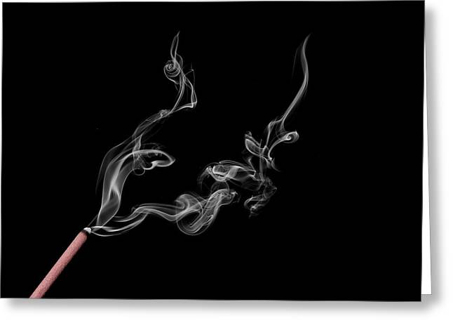 Smoke Photography Greeting Card by Jay Harrison