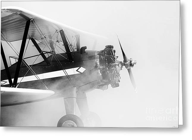 Smoked Engine Greeting Card by Mkaz Photography