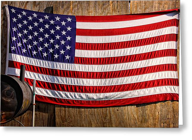 Smoker Flag Greeting Card