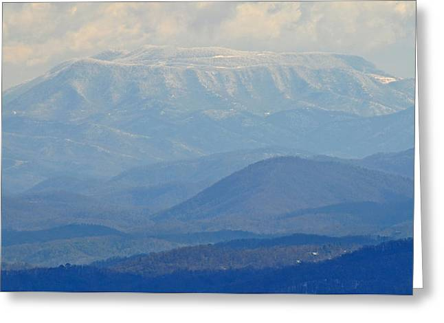 Smokey Blue Flat Top Greeting Card by Peter  McIntosh