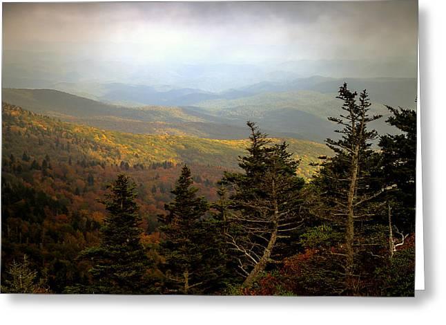 Smokey Mountain High Greeting Card by Karen Wiles