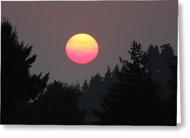 Smokey Sunrise Greeting Card
