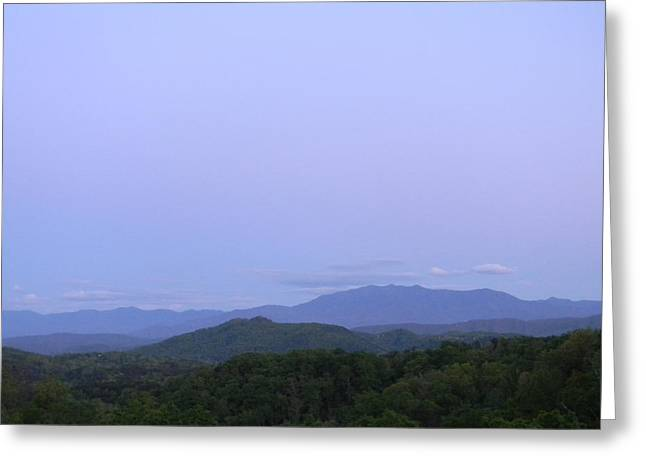 Smokies At Dusk Greeting Card by Mark Minier