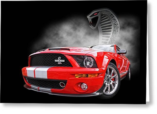 Smokin' Cobra Power - Shelby Kr Greeting Card