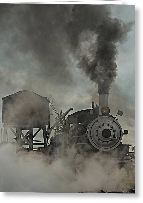 Smokin Engine 353 Greeting Card by Paul Freidlund