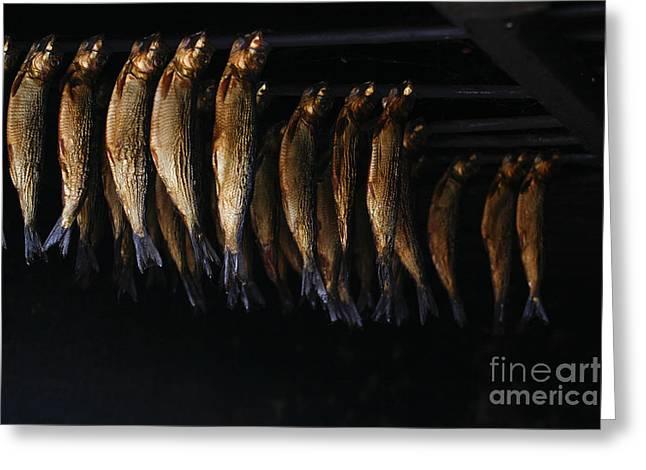 Smoking Fish Greeting Card