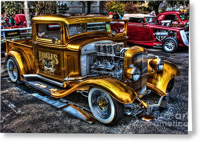 Smoking Ford Greeting Card by Tommy Anderson