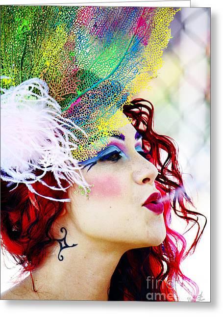 Smoking Redhead Greeting Card by Nishanth Gopinathan